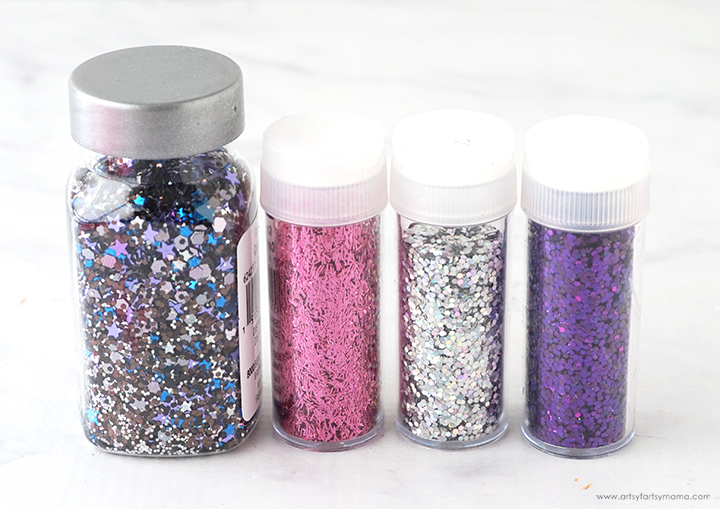 Galaxy Glitter Containers