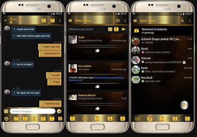 BBM Mod BLACK GOLD Series V3.1.0.13 Apk