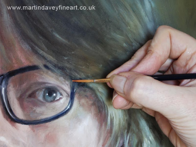painting an eye M P Davey