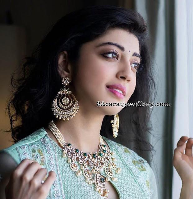 Pranitha Subhash Pachi Necklace