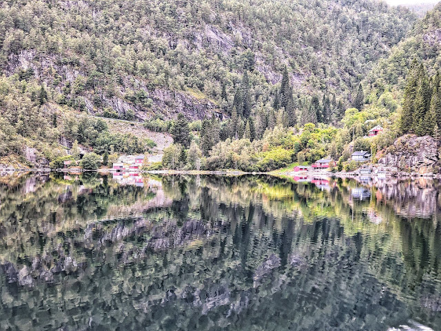 Reflections on an Osterfjorden cruise in Bergen Norway