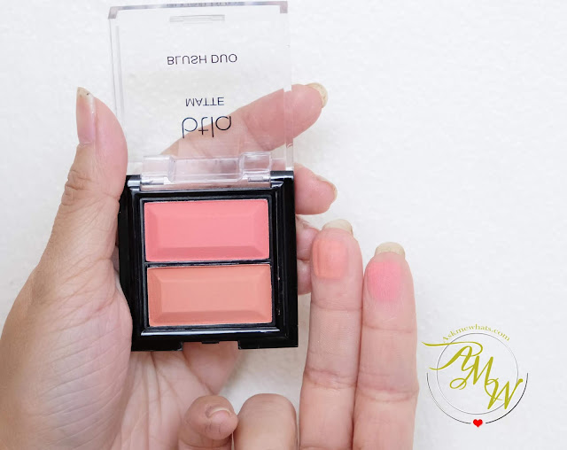 swatch photo of BTLA Matte Blush Duo in SPICE Review by Nikki Tiu of www.askmewhats.com