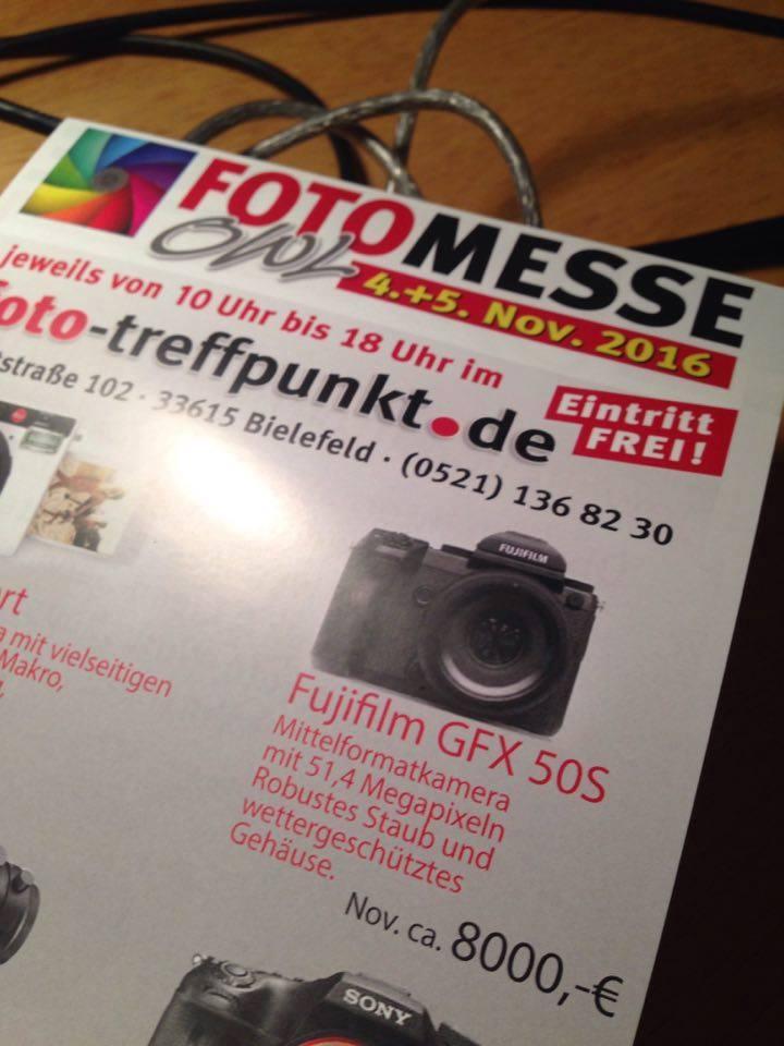 Страница журнала с ценой Fujifilm GFX 50S
