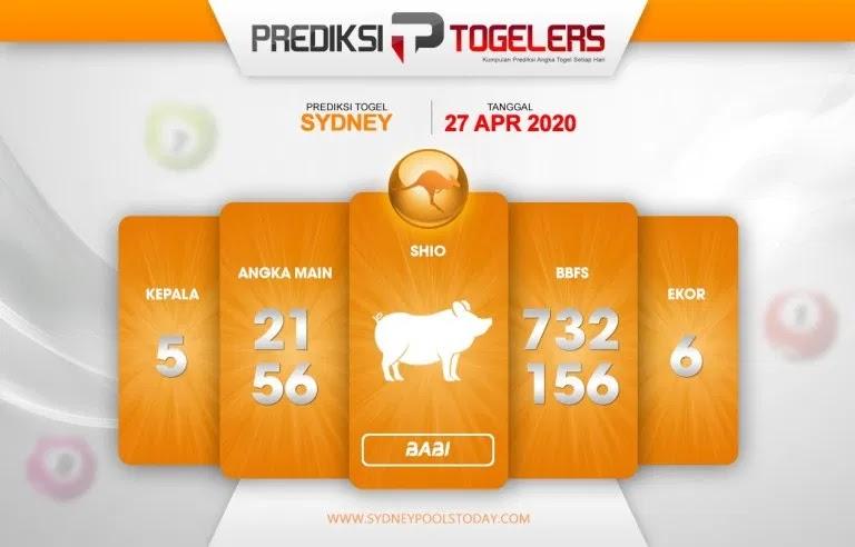 Prediksi Sidney 27 April 2020 - Prediksi Togellers
