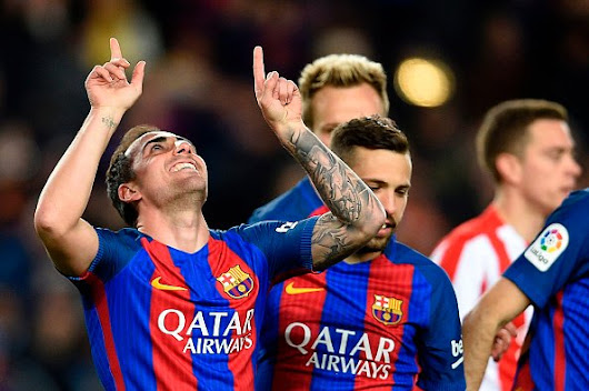 Barcelona 6-1 Sporting Gijon: Catalans go top of the table
