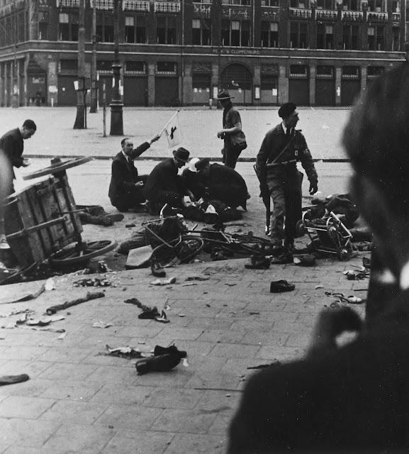 Beschieting op de Dam, 7 mei 1945