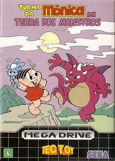 Jogo Mônica na Terra dos Monstros online para Mega Drive