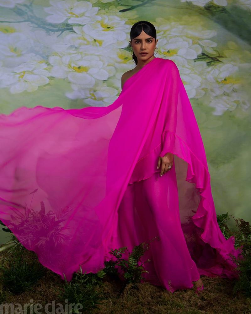Priyanka Chopra wears Valentino dress, Cartier jewelry, and Jimmy Choo heels