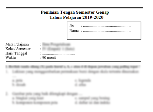 Soal Pts Kelas 7 Ipa Semester 2 Smp Mts 2020 File Pembelajaran Kurikulum2013