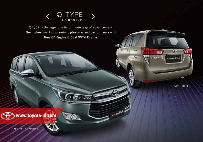 Spesifikasi Toyota All New Kijang Innova Camry 2017 Indonesia Tipe Q Astra