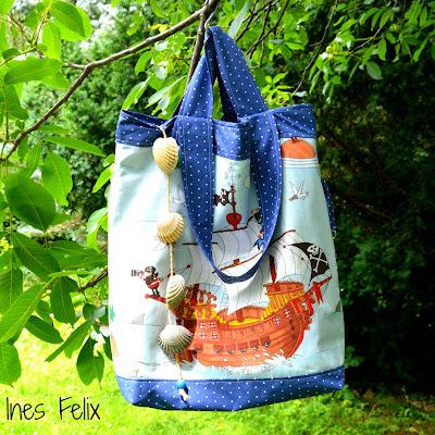 Ines felix kreatives zum nachmachen strandtasche for Wasserabweisende folie bad