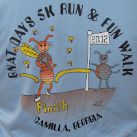 2012 Gnat Days 5K shirt design