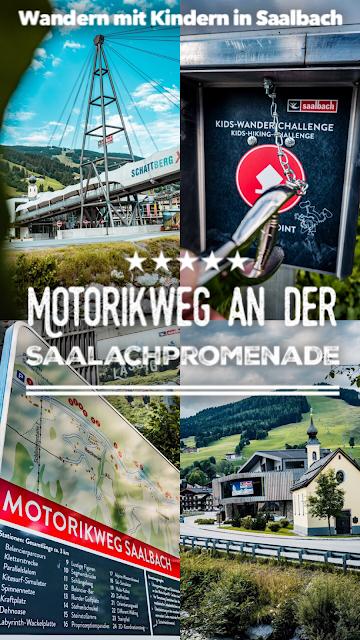 Motorikweg an der Saalachpromenade  Wandern mit Kindern in Saalbach 20