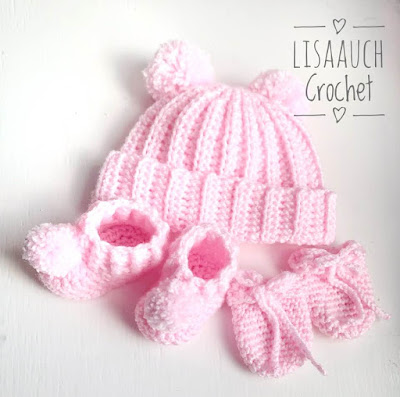 easy simple newborn crochet baby hat pattern free