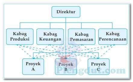 Gambar Organisasi: gambar bentuk struktur dari fungsional