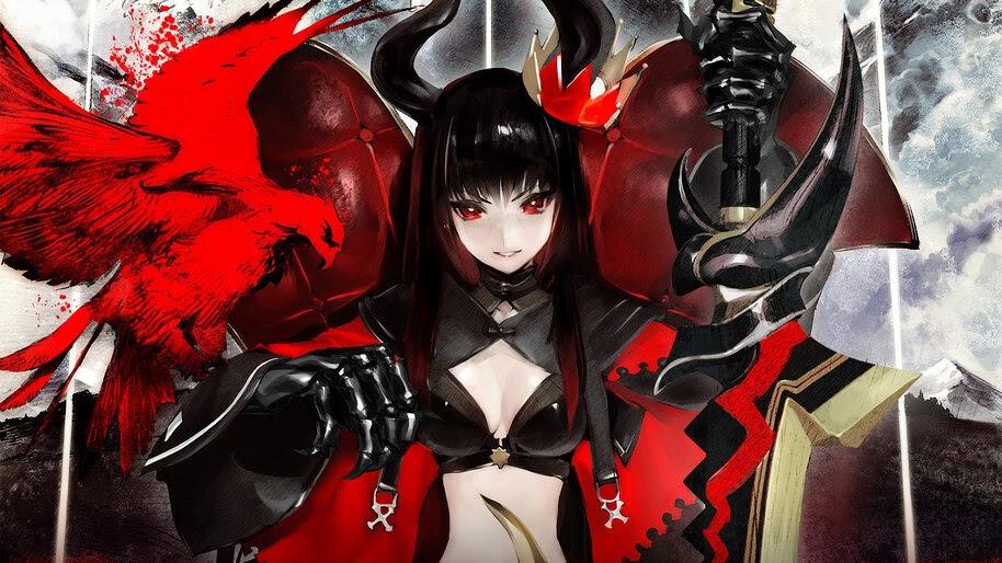 Anime, Girl, Sword, Fantasy, Black Gold Saw, 4K, #255