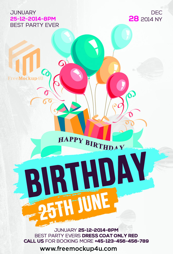Happy Birthday Flyer Psd Templae Free Download