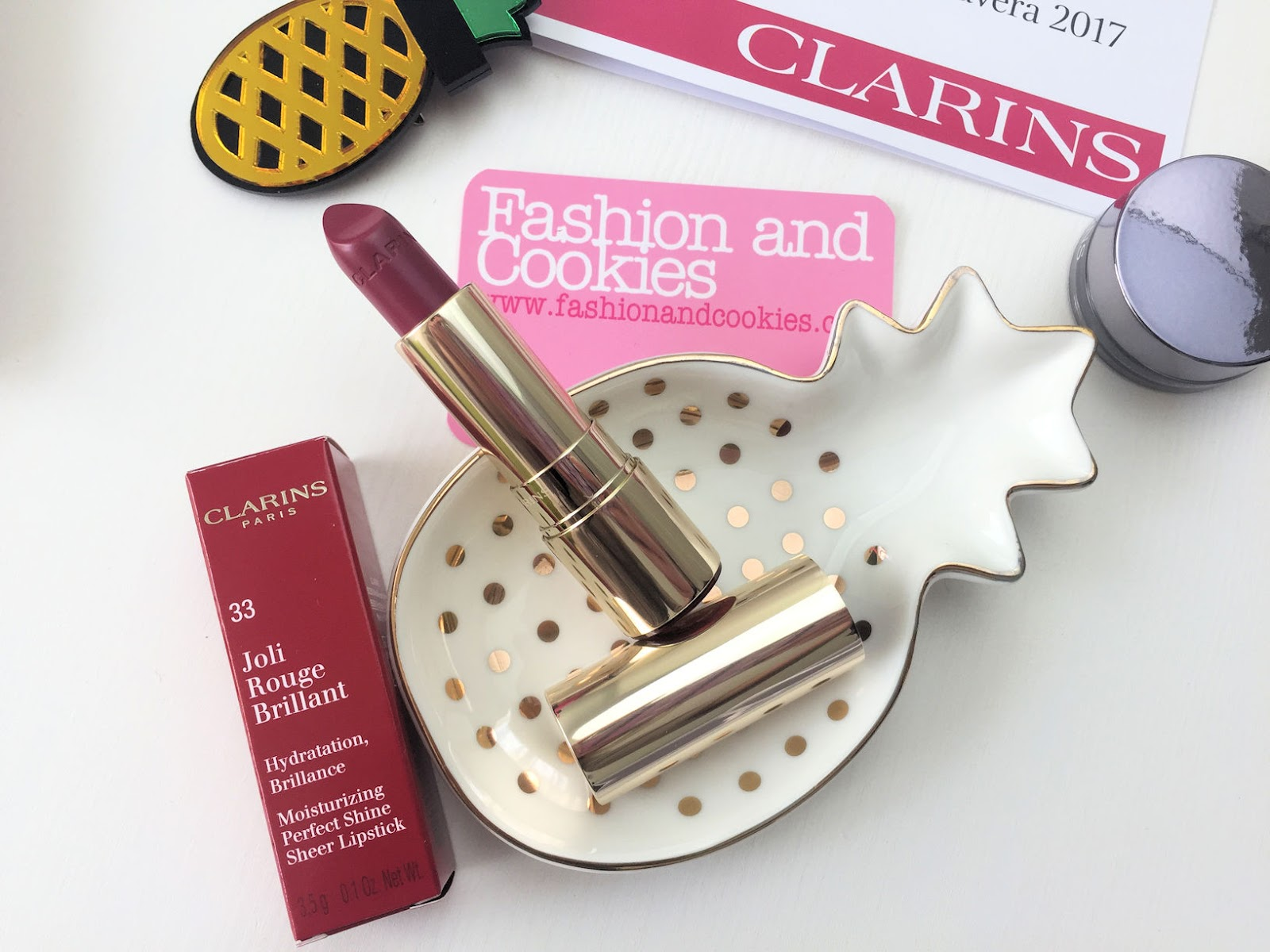 Clarins Joli Rouge Brilliant lipstick makeup Spring 2017 review su Fashion and Cookies beauty blog, beauty blogger