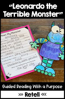 """""""Leonardo the Terrible Monster"""" Guided Reading with a Purpose"""
