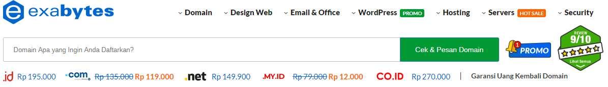 Promo Domain di Exabytes Indonesia