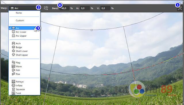 Cara membuat efek panorama dengan photoshop