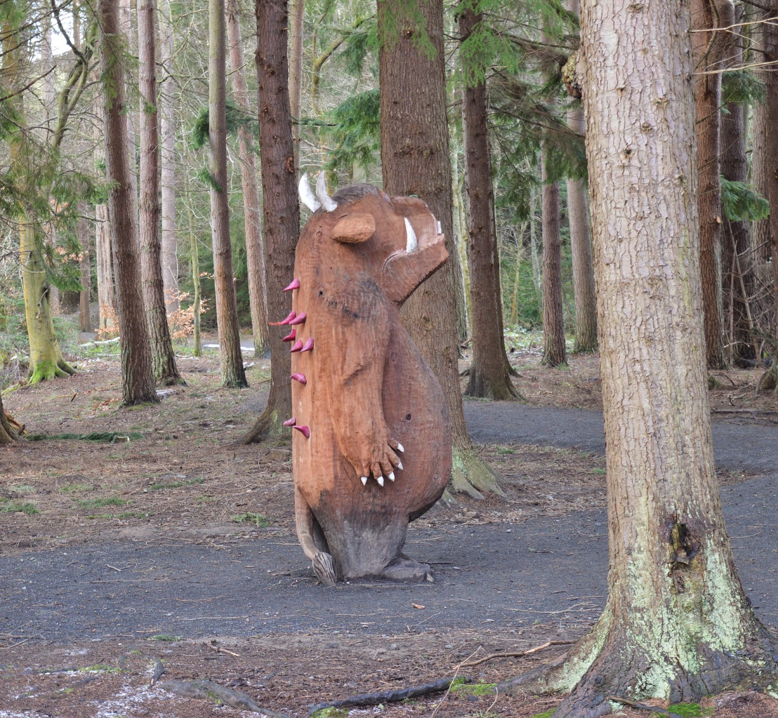 11 Woodland Walks to try in North East England this Autumn - gruffalo child