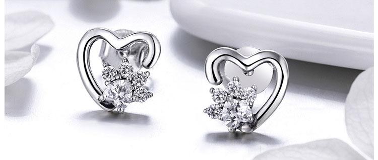 寵物愛掌印 925純銀耳環