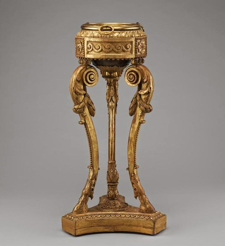 Pair of tripod stands (athèniennes) After a design by Jean-Henri Eberts. 1773,