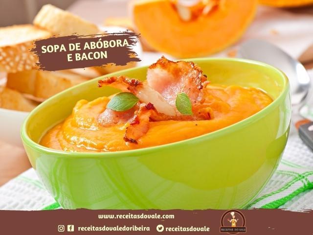 Receita de Sopa de Abóbora e Bacon