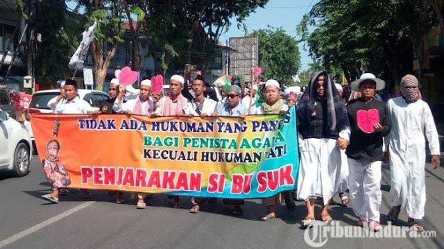 Ulama Madura Ancam Kembali Demo dengan Massa Lebih Banyak JikaSukmawati Tak Dihukum