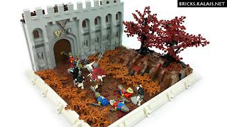 [MOC] Rycerze Lwa uciekają przed nieumarłymi