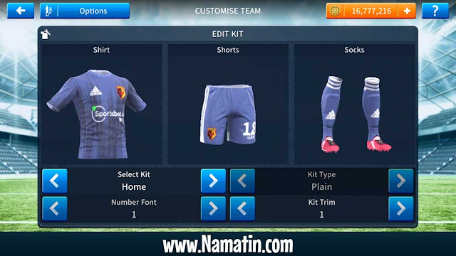 Download Jersey Dream League Soccer Watford FC