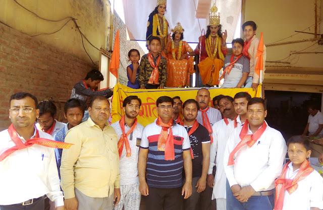 Shobha Yatra on Ramnavmi by Rashtriya Swayamsevak Sangh Hasanpur