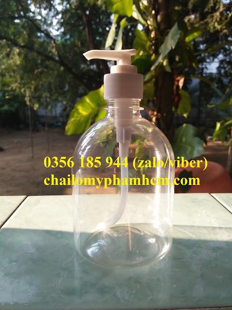 Chai nhựa PET xịt giọt 500ml