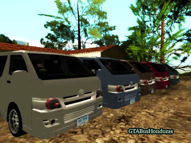 Ahora ya pueden tener su propia flota de Toyota Hiace 2012 y usarlos en Gta San Andreas
