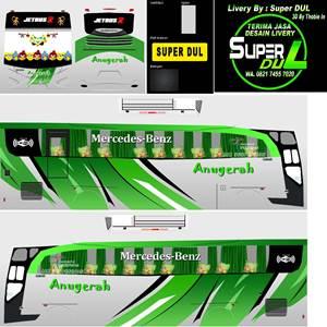livery bussid hd sumatera anugerah