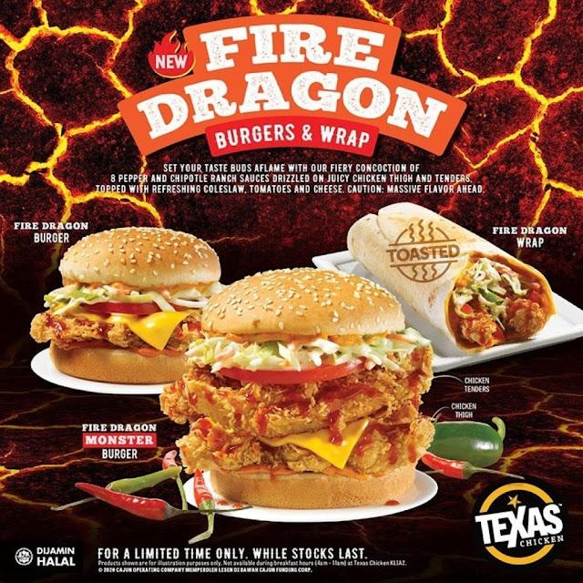 menu baru texas chicken fire dragon