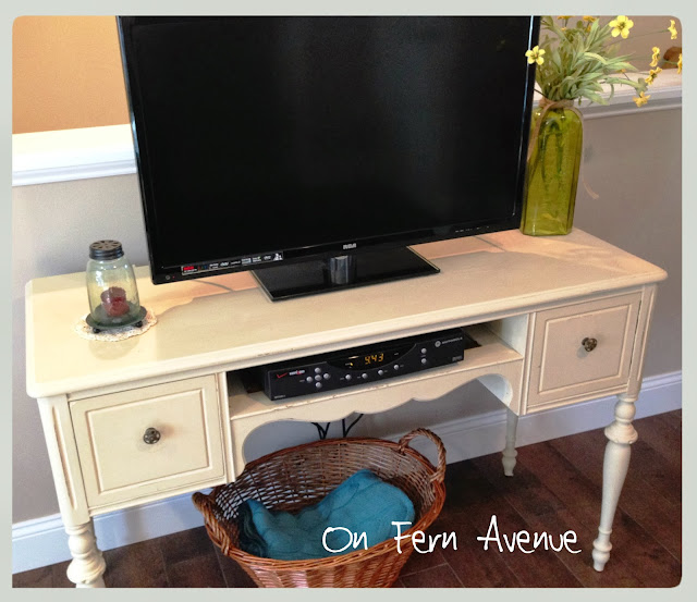 originally a vanity turned to tv stand