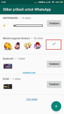 Cara memasukkan stiker ml pada aplikasi whatsapp