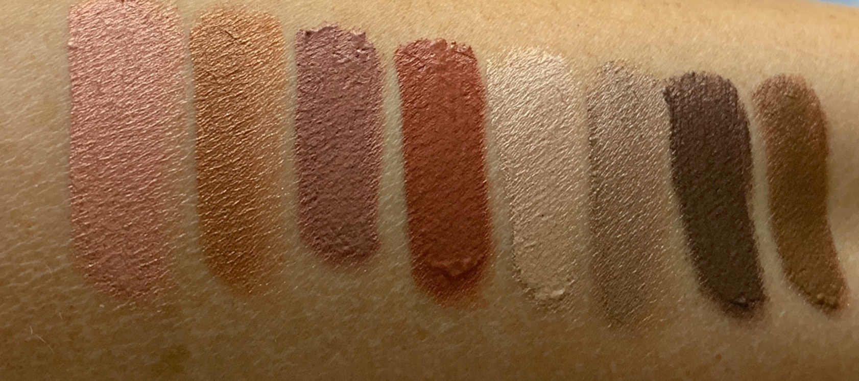 Swatches of all Charlotte Tilbury Eyes To Mesmerise