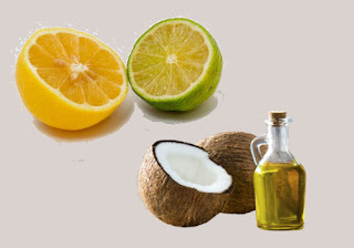 Lemon juice with coconut Oil
