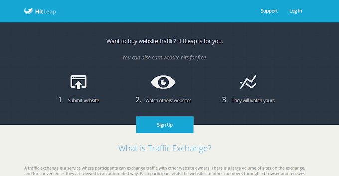 Hướng dẫn tăng lượt traffic cho blogspot bằng hitleap