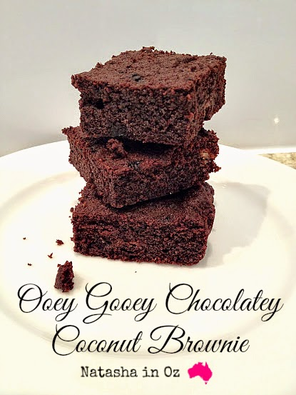 Ooey Gooey Chocolatey Coconut Brownie Recipe made with REAL Butter!