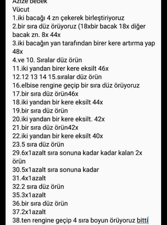 Amigurumi Taraftar Bebek Yapımı - Amigurumi - Türkçe Ücretsiz ... | 960x712