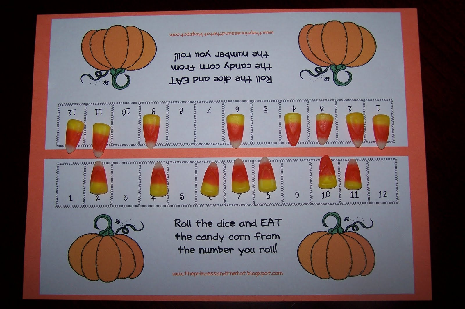 The Princess And The Tot Candy Corn Counting Game