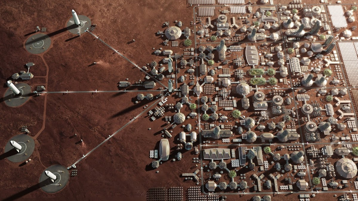 SpaceX's Mars Base Alpha - 4th stage - Mars City