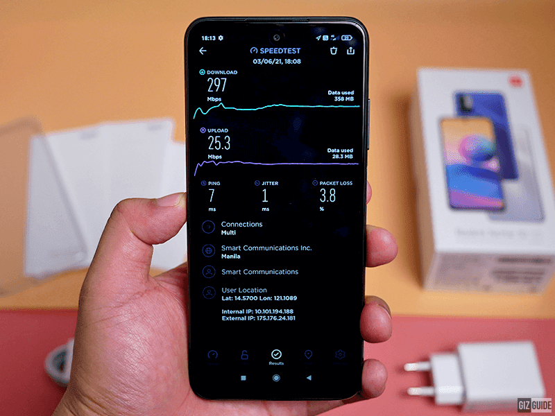 Not the highest type of 5G, but it works!