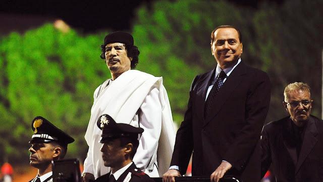 Fidèle à son ami.. Berlusconi déclare: La chute de Kadhafi n'était pas une révolution, mais un complot