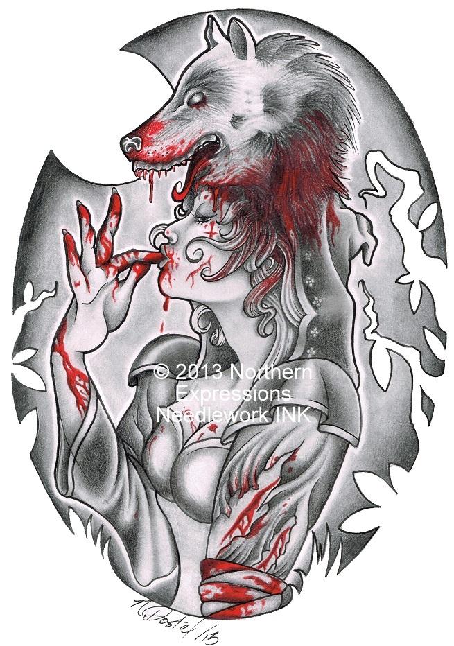 Red Riding Hood Tattoo Designs