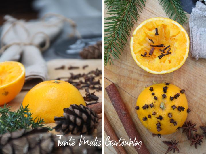 Christmas smell oranges